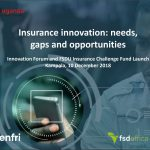 Insurance Innovation: Needs, Gaps and Opportunities